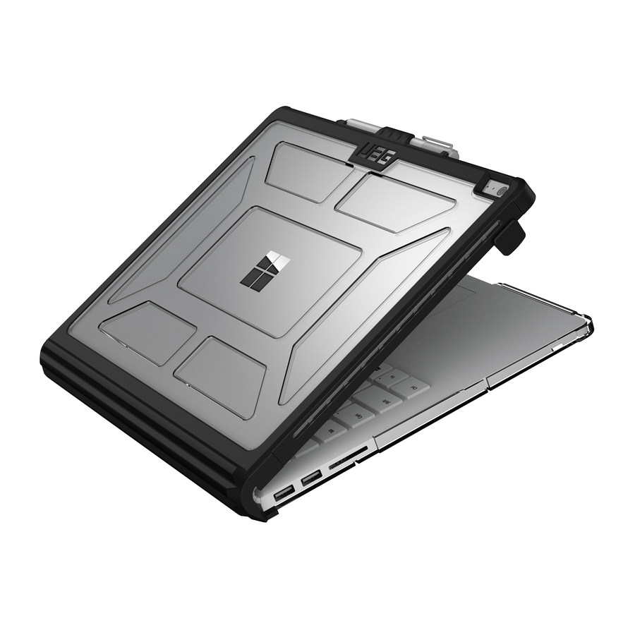 Black Ice Book Cover Model ~ Rugged case for microsoft surface book by uag urban