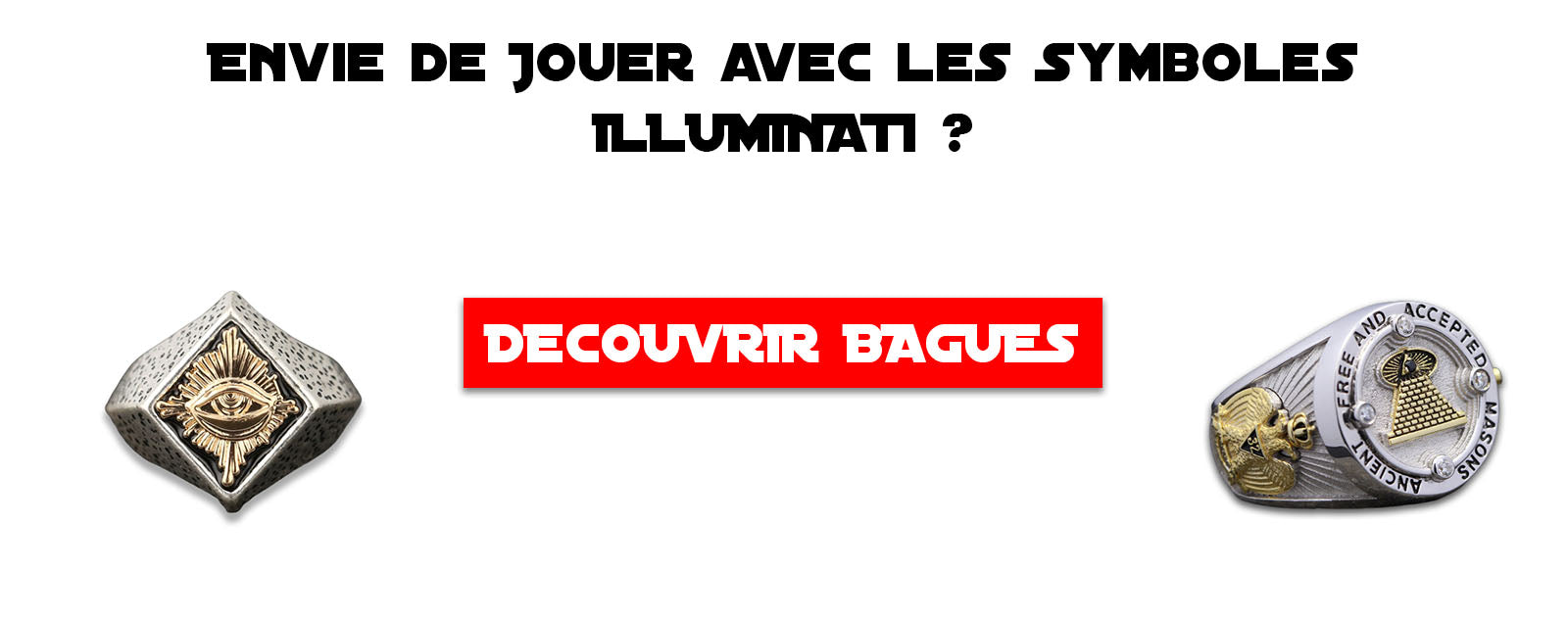 collection bagues illuminati