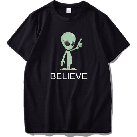 tee shirt ovni alien believe