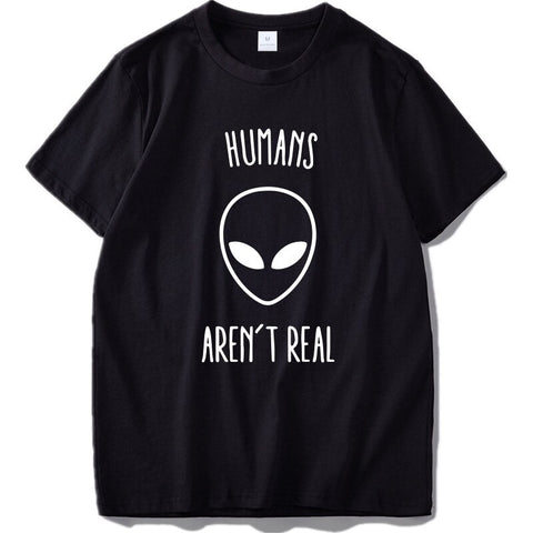 tee shirt ovni humans are not real