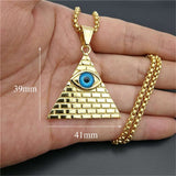 Collier Illuminati <br> Triangle (Acier)