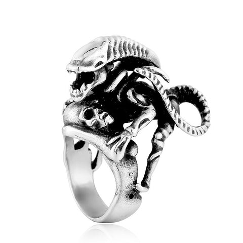 Bague Alien Monstre ajustable