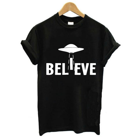 tshirt femme ovni believe