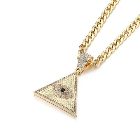 Collier Oeil Illuminati OR