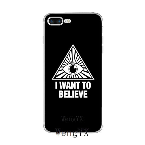 coque iphone illuminati i want to believe