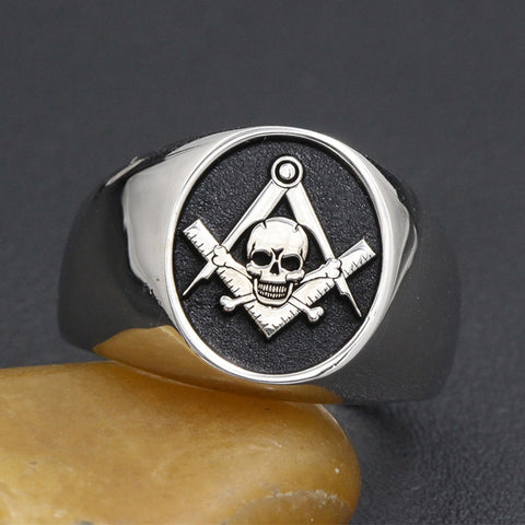 bague francs maçons skull and bones