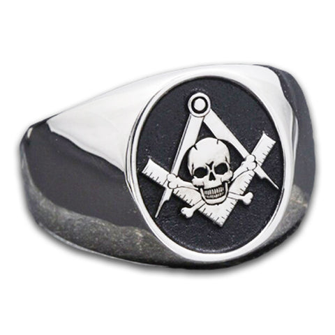 bague franc macon skull and bones