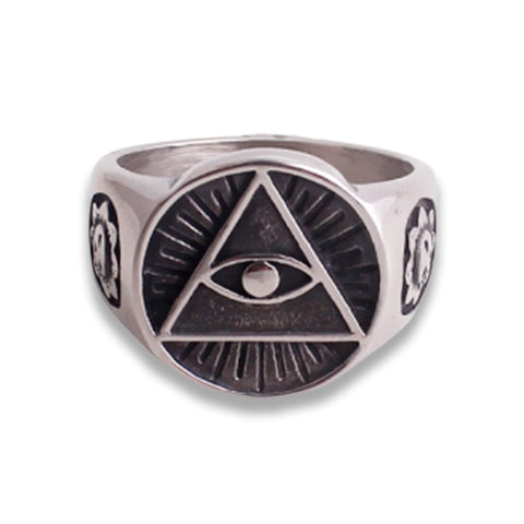 bague illuminati triangle oeil