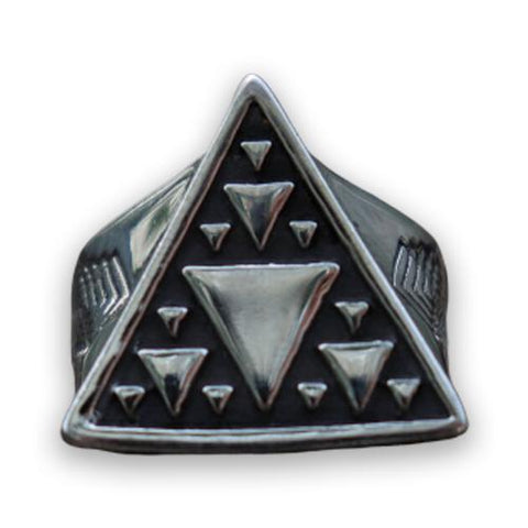 bague illuminati triangles