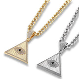 collier oeil illuminati