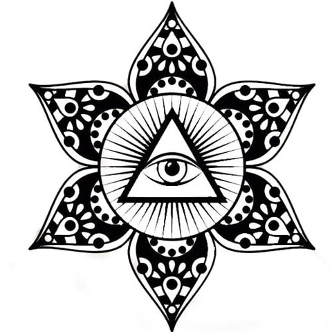 Sticker Illuminati <br> Mandala