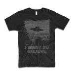 tee shirt ovni i want to believe