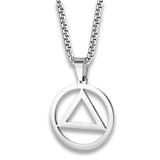 triangle illuminati collier