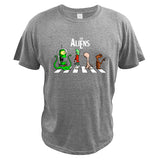 t-shirt the aliens gris