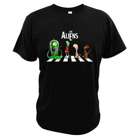 t-shirt the aliens noir