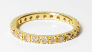 Champagne Diamond 18k Gold Band