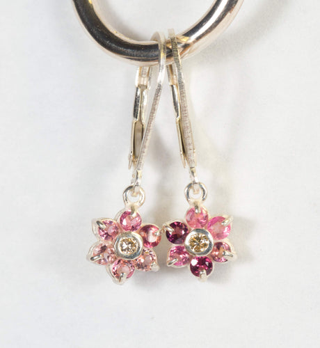 Pink Tourmeline Earrings