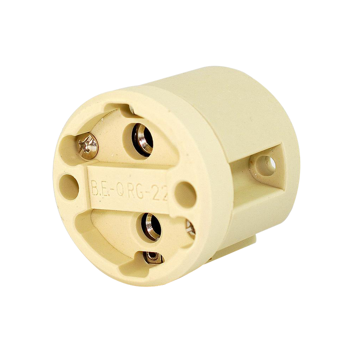 SOCKET G22, 2 PINES, 1000V, 6A G22 SIN CABLE