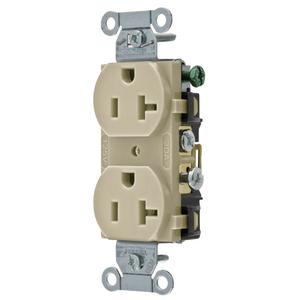 CONECTOR DUP RCPT, COMM GRD, 20A 125V, 5-20R, IV