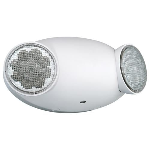LED DUAL EMERGENCY LIGHT, 120-277V, 2W, DAMP LOCATION, 90MIN BATERIA