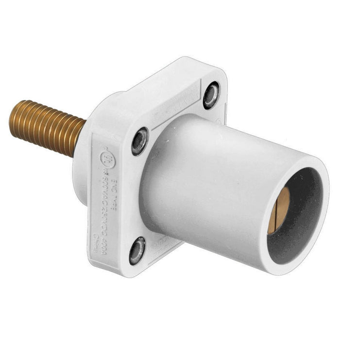 CONECTOR CAMLOCK 300-400A MALE PANEL MOUNT TORNILLO WHITE