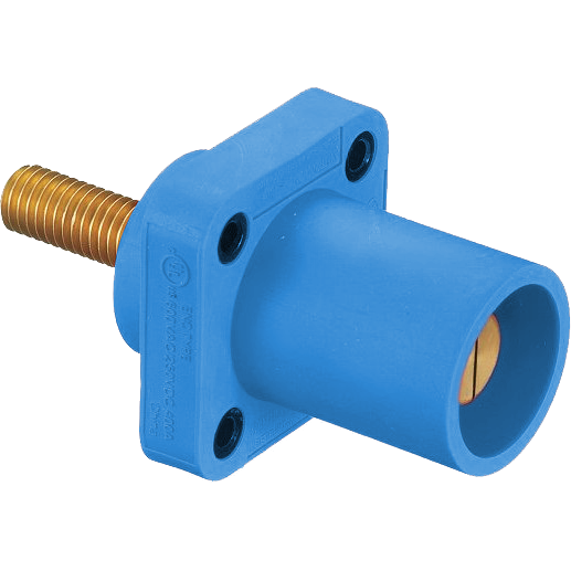CONECTOR CAMLOCK 300-400A MALE PANEL MOUNT TORNILLO BLUE