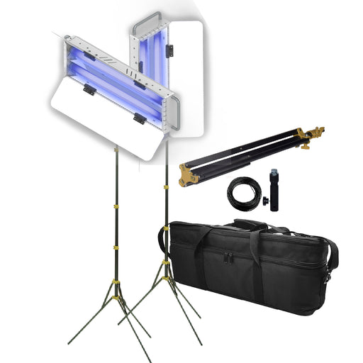 luminaria uv-c sanitizer 2x25 portatil, kit 2, sensor y temporizador, mto