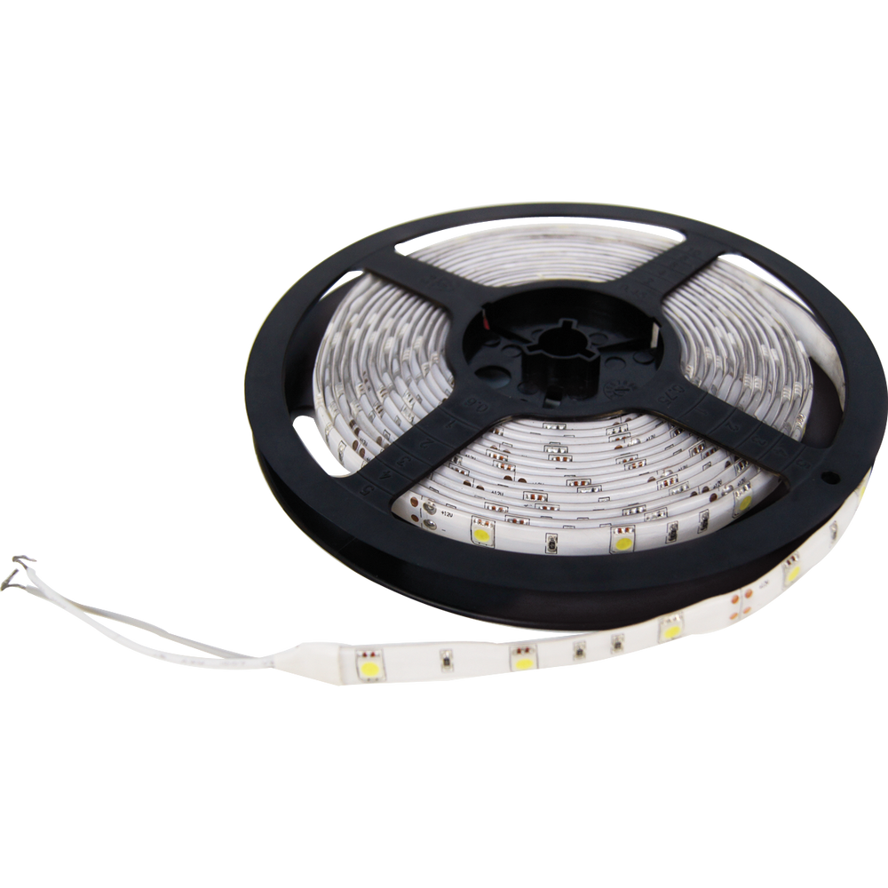 LED TIRA, CHIP 5050, 7.5W/MT, 30LED/MT, COOL WHITE SUMERGIBLE, 5MT, LEDST5050