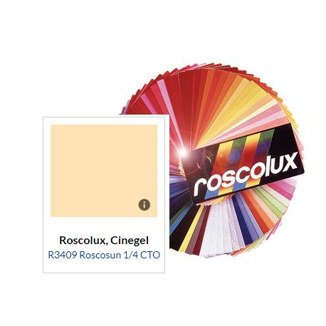 ROLLO DE FILTRO DE 61 X 7.62 MTS. COLOR 1/4 CTO ORANGE