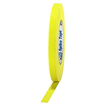 "CINTA GAFFER, 1/2"" X 41 MTS DE LARGO, AMARILLO FLUORESCENTE, SPIKE TAPE"