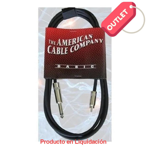 CABLE DE AUDIO, RCA A PLUG 6.3 TS, 1.80MT - 6 PIES