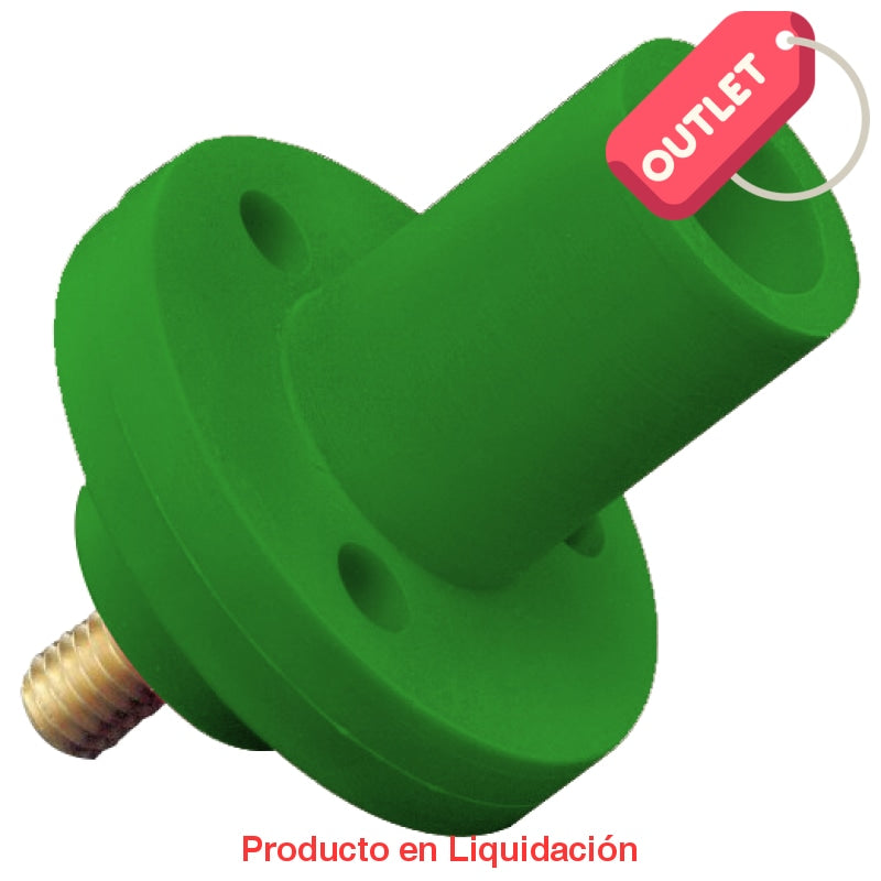 Conector Camlock Panel Mount Chasis Tornillo 150A Female Green Outlet