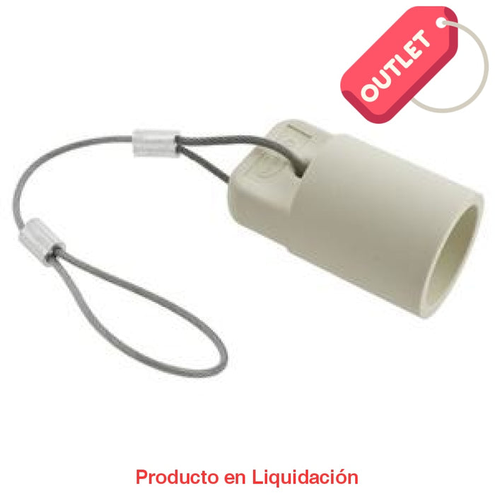 conector camlock 300-400a en linea single pole, female cap, white, mto