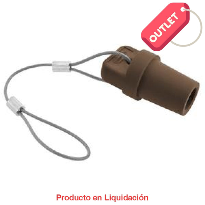 Conector Camlock Single Pole Male Cap Brown Outlet