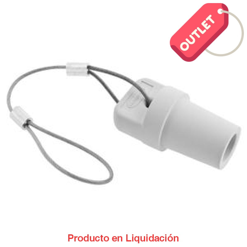Conector Camlock Single Pole Male Cap White Outlet