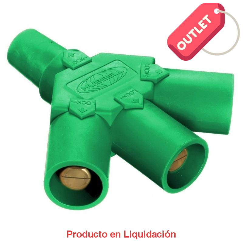Conector Camlock Tri-Tap(Female-Male-Male-Male) Green Outlet