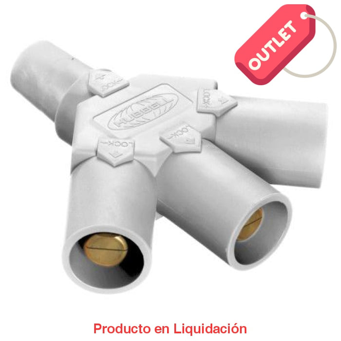 Conector Camlock Tri-Tap(Female-Male-Male-Male) White Outlet