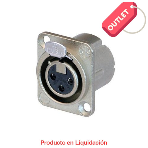 Conector Chasis Dlx 3 Polos Hembra Nickel/plata Outlet