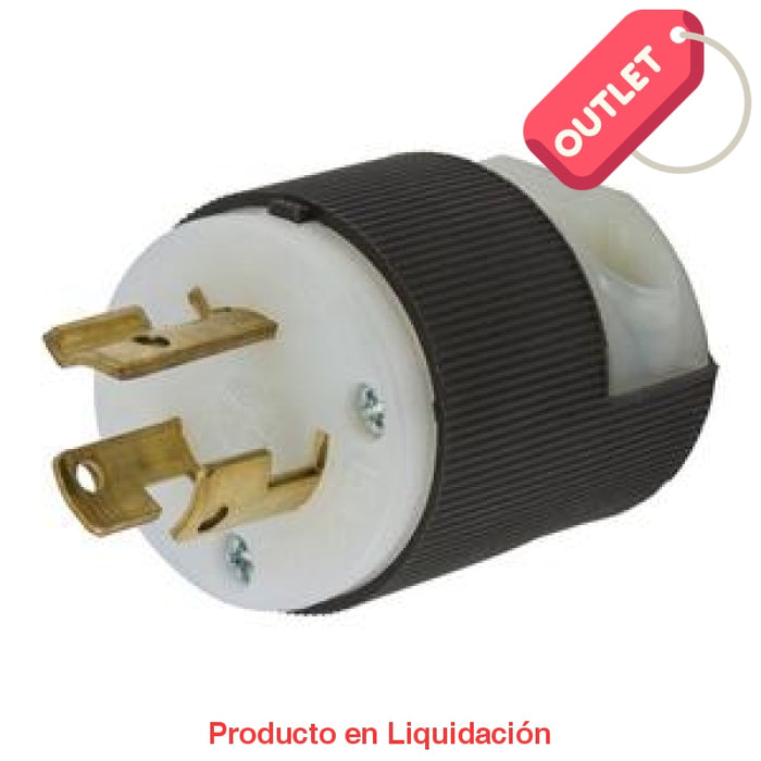 Conector Linea Twist-Lock Macho 250V 15A 2P 3H L6-15P Outlet