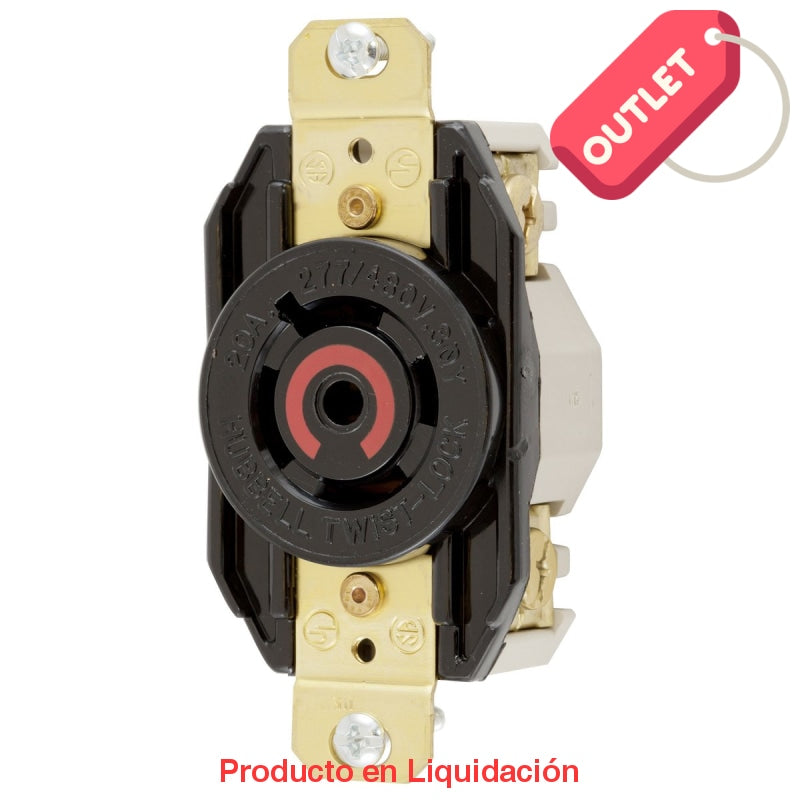 Conector Receptaculo Hembra 277-480V 20A 4P 5H L22-20R Outlet