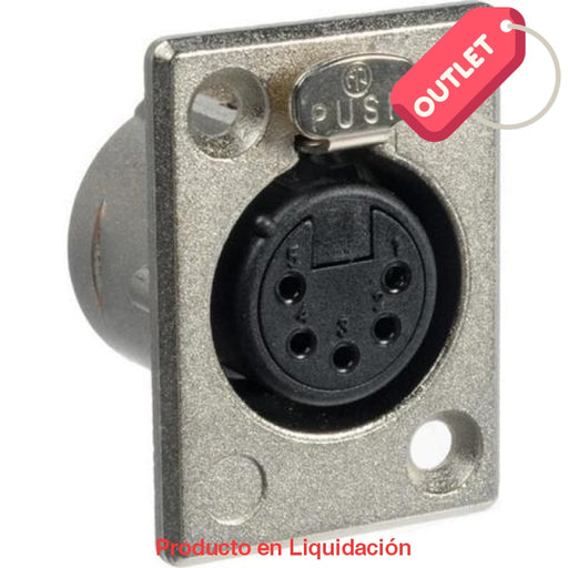 Conector Xlr Chasis 5 Pines Hembra Nickel/plata Outlet