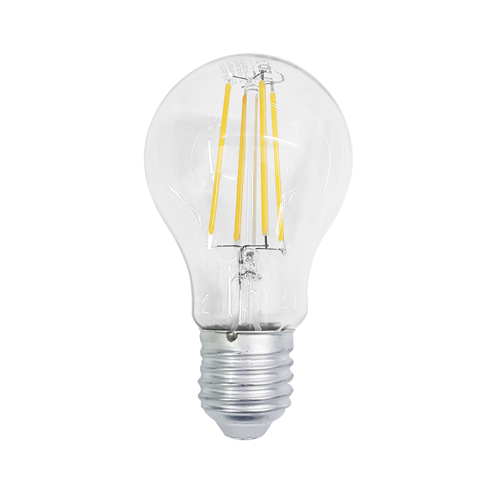 LED FILAMENT BULB, 6W, 85-265V, BASE E27, WARM WHITE DIMEABLE, 300°, LEDBULB-6FD