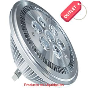 led ar111, 7w, 12v, base g53, warm white dimeable 15° ledar111d - descontinuado – mto