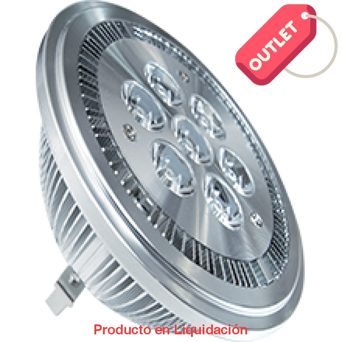 led ar111, 7w, 12v, base g53, warm white 45° ledar111 - descontinuado – mto