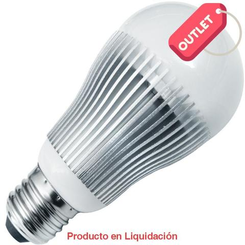 LED BULB, 6W, 85-265V, BASE E27, WARM WHITE, LEDBULB-6