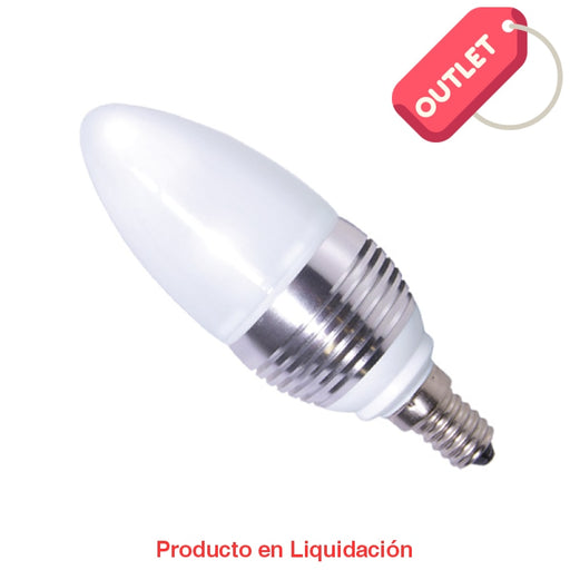 Led Candle 3W 85-265V Base E14 Warm White Dimeable Ledcan-E14 Outlet