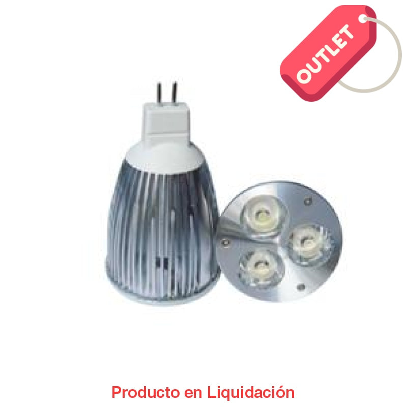 led mr16, 6w, 12v, base gu5.3, warm white, 30°, led707gu5.3 - descontinuado – mto