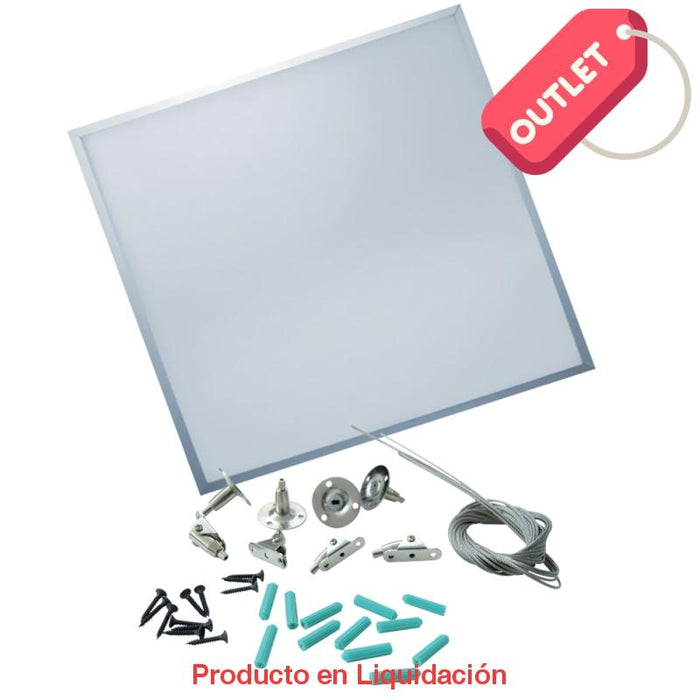led panel, 48w, 120v, warm white dimeable con hangers, 60 x 60cm, ledpacd-h - descontinuado – mto