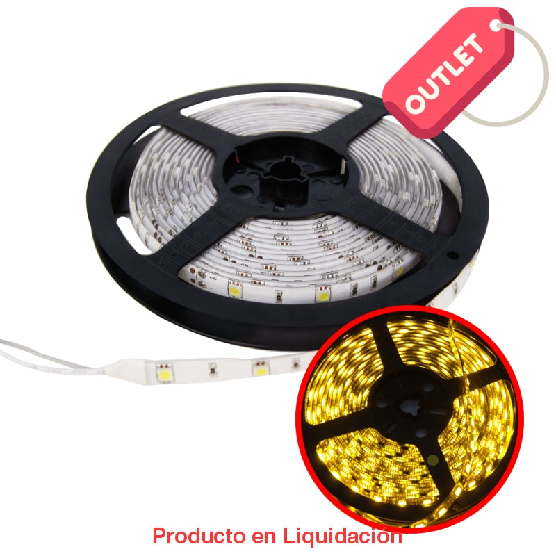 Led Tira Chip 3528 4.8W/mt Yellow Ledst3528-60 Outlet