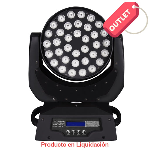 Luminaria Led Washer Color Booster 36 X 8W (4 En 1) Rgbw Con Zoom Outlet